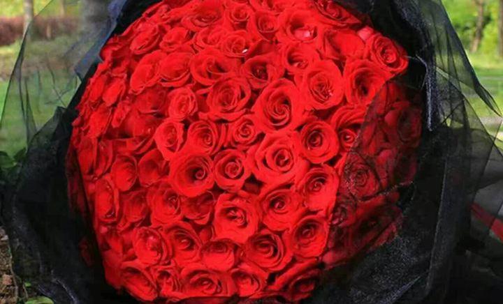 遇见花坊99朵玫瑰花束